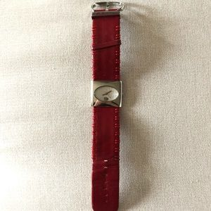 Just Cavalli red leather watch